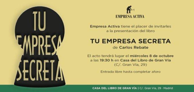 Invitación presentación libro